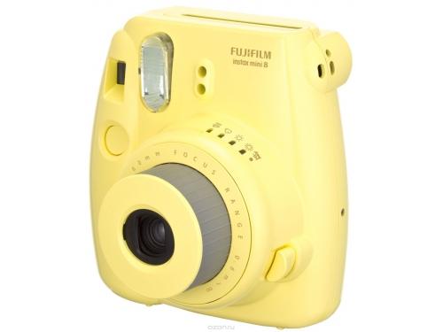 Фотоаппарат моментальной печати Fujifilm Instax Mini 8, жёлтый, вид 2