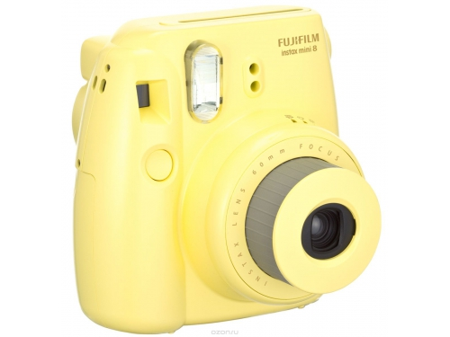 Фотоаппарат моментальной печати Fujifilm Instax Mini 8, жёлтый, вид 3