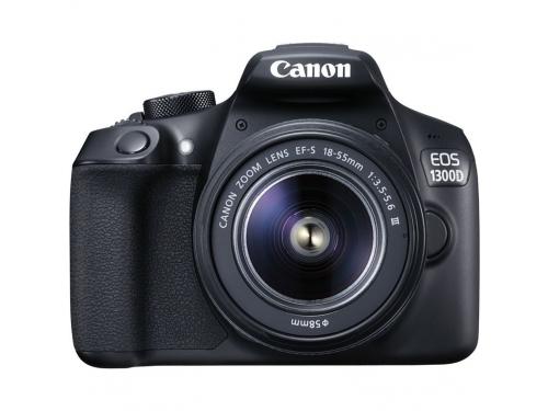 Цифровой фотоаппарат Canon EOS 1300D Kit, черный, вид 1