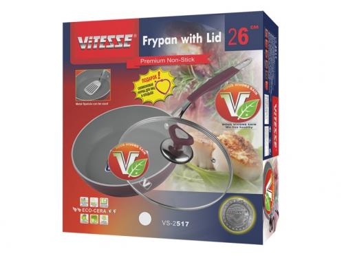 Сковорода VITESSE VS-2517, с крышкой, вид 2