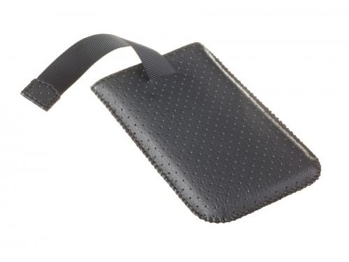 Чехол для смартфона Norton, универсальный с ремешком, размер w (65x121x11 мм), перфорированный, чёрный, вид 4