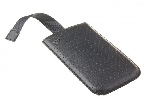 Чехол для смартфона Norton, универсальный с ремешком, размер w (65x121x11 мм), перфорированный, чёрный, вид 5