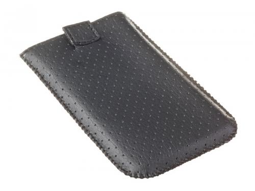 Чехол для смартфона Norton, универсальный с ремешком, размер w (65x121x11 мм), перфорированный, чёрный, вид 2