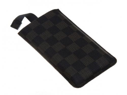 Чехол ipad Norton, универсальный с ремешком, размер x (68x132x9 мм), чёрный с коричневым, вид 5
