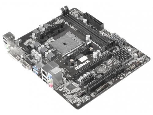 Материнская плата ASRock FM2A68M-DG3+ (mATX, DDR3, SATA-III, D-Sub DVI), вид 2