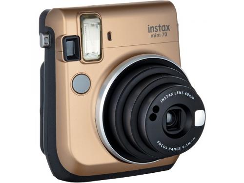 Фотоаппарат моментальной печати Fujifilm Instax Mini 70, золотистый, вид 1