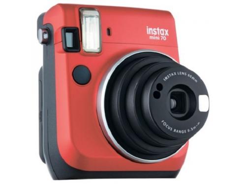 Фотоаппарат моментальной печати Fujifilm Instax Mini 70, красный, вид 1