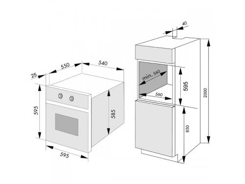 Духовой шкаф Hansa BOEI64450077, вид 3