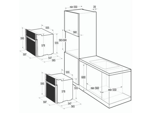 Духовой шкаф Gorenje BO 647A20 WG-M, белый, вид 2