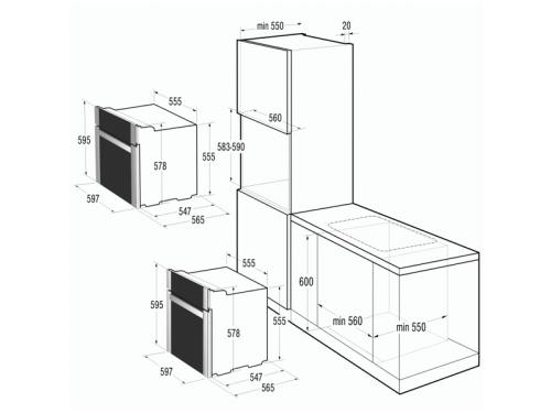 Духовой шкаф Gorenje Simplicity BO72SY2B, вид 3