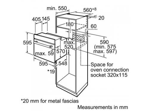 Духовой шкаф Bosch HBN231S4, вид 3