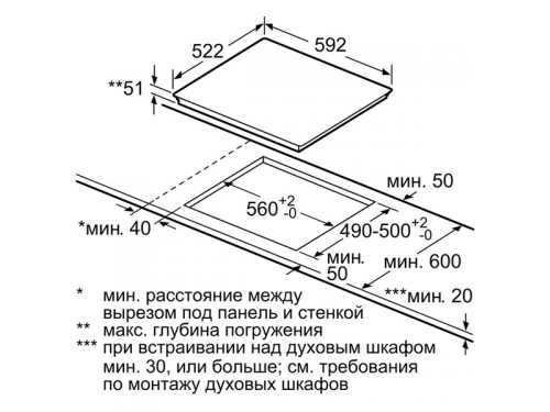 Варочная поверхность Bosch PIM631B18E, вид 2