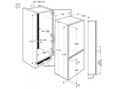 Холодильник Electrolux ENN92800AW, вид 3