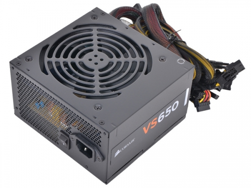 Блок питания Corsair VS650 650W (ATX12V 2.3 / EPS12V, CP-9020098-EU), вид 2