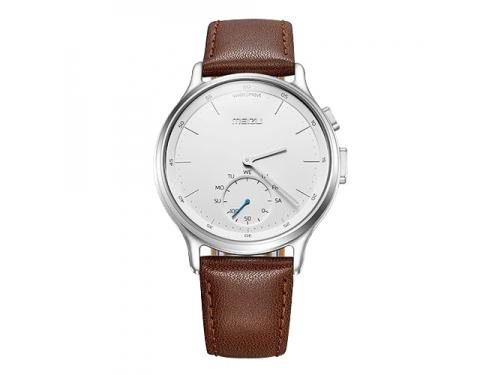 Умные часы Meizu Mix Leather MZWA1S, серебристо-коричневые, вид 1