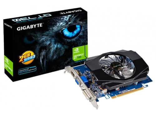 Видеокарта GeForce Gigabyte PCI-E NV GV-N730D3-2GI GT730 2048MB DDR3 64bit, вид 1