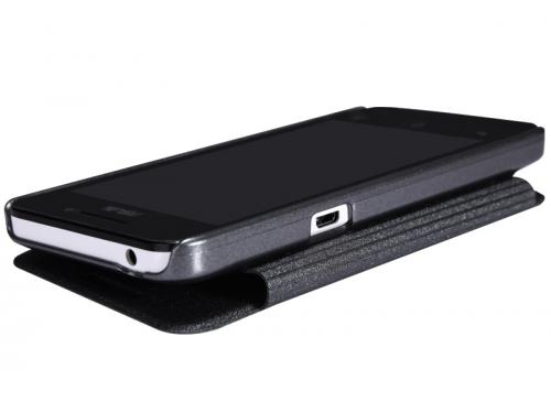 Чехол для смартфона Nillkin Sparkle leather case для Asus ZenFone 4 (A450CG), кожа, чёрный, вид 3