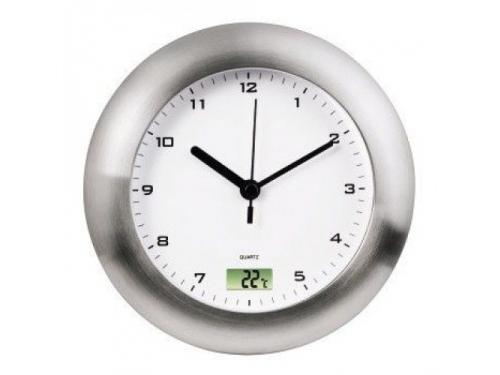 Часы интерьерные Hama Bathroom H-113914, серебристые, вид 1