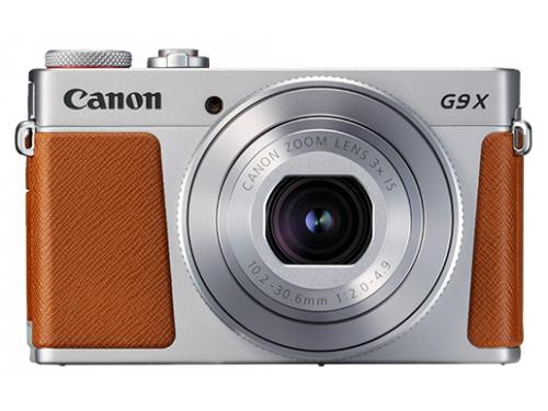 Цифровой фотоаппарат Canon PowerShot G9 X Mark II, серебристый, вид 2