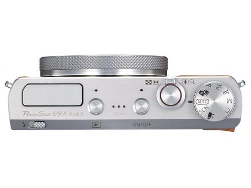 Цифровой фотоаппарат Canon PowerShot G9 X Mark II, серебристый, вид 3
