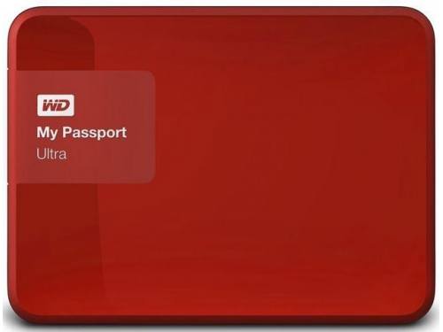 Жесткий диск Western Digital MY Passport ULTRA 1000 Gb (WDBDDE0010BBY-EEUE), красный, вид 1
