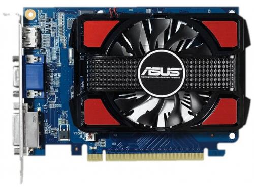 Видеокарта GeForce Asus PCI-E NV GT730-2GD3 GT730 2Gb 128b GDDR3, вид 1