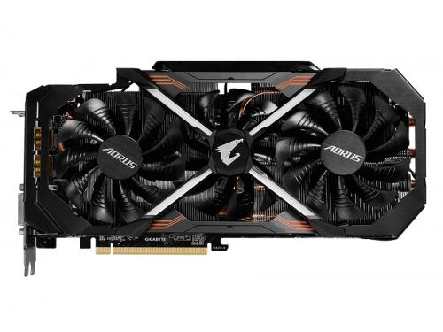 Видеокарта GeForce Gigabyte GeForce GTX 1080 1784Mhz PCI-E 3.0 8192Mb 10206Mhz 256 bit DVI 3xHDMI HDCP (GV-N1080AORUS X-8GD), AORUS xtreme edition, вид 2