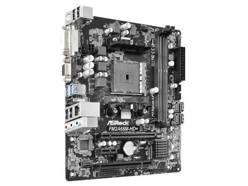 Материнская плата ASRock FM2A68M-HD+ (mATX, DDR3, SATA-III, D-Sub, DVI, HDMI), вид 3