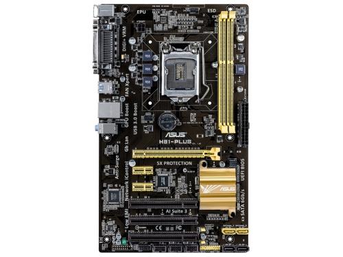 Материнская плата ASUS H81-PLUS Soc-1150 H81 DDRIII ATX SATA3  LAN-Gbt USB3.0 COM LPT, вид 2