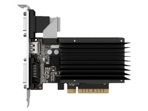 Видеокарта GeForce Palit GeForce GT 730 902Mhz PCI-E 2.0 2048Mb 1804Mhz 64 bit DVI HDMI HDCP Silent, вид 1