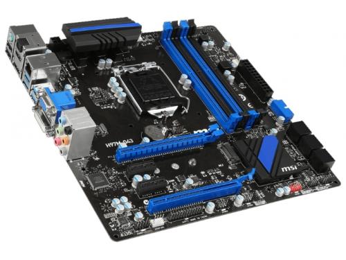 Материнская плата MSI H97M-G43 Soc-1150 H97 DDRIII mATX SATA3  LAN-Gbt +RaiD USB3.0 VGA/DVI/HDMI/DP, вид 1