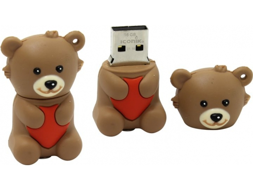 Usb-флешка Iconik RB-BEARB (16 Gb, USB 2.0), вид 1