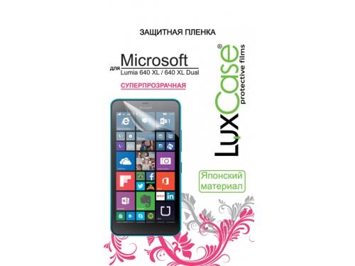 Защитная пленка для смартфона LuxCase  для Microsoft Lumia 640 XL / 640 XL Dual (Антибликовая), 158х81 мм, вид 1