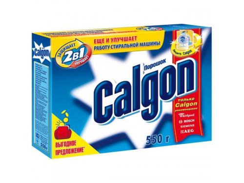 Аксессуар к бытовой технике Calgon 2 в 1, против накипи в стир.машинах, 550 г, вид 1