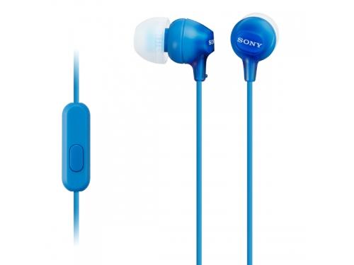 Гарнитура проводная для телефона Sony MDR-EX15AP (CE7) синие, вид 1