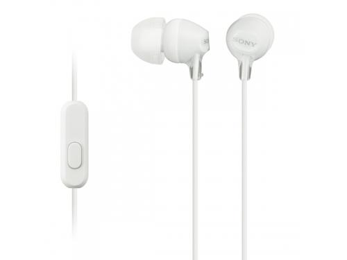 Наушники Sony MDR-EX15AP/WС(CE7), белые, вид 1