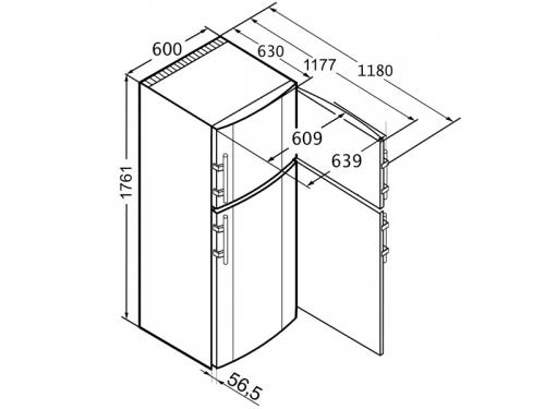 Холодильник Liebherr CT 3306-22, вид 3