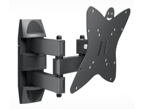 Кронштейн для телевизора Holder LCDS-5038 (20-37'', до 30 кг, наклон, поворот), графит, вид 1