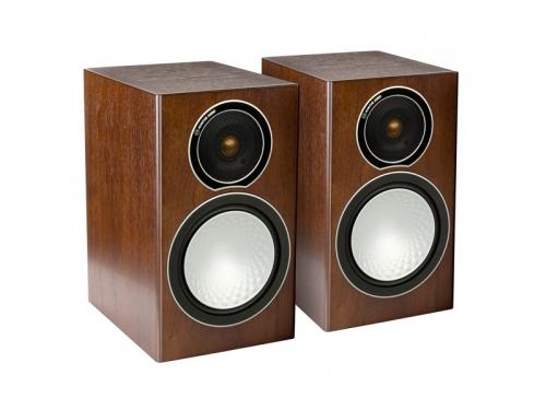 Акустическая система Monitor Audio Silver 1, полочная, грецкий орех, вид 1