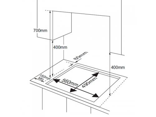 Варочная поверхность Samsung NA64H3030BS, вид 3