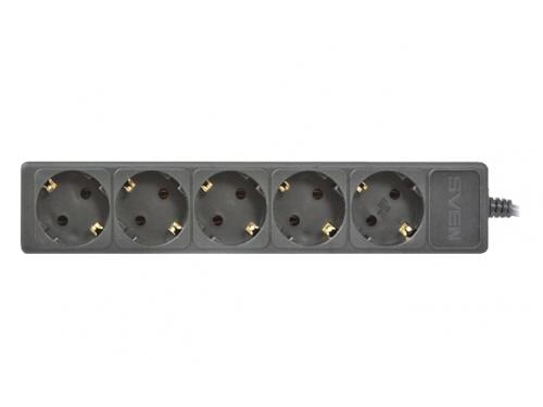 Сетевой фильтр Sven 'Special Base', 5 розеток, 0.5 м, для UPS, черный, вид 1