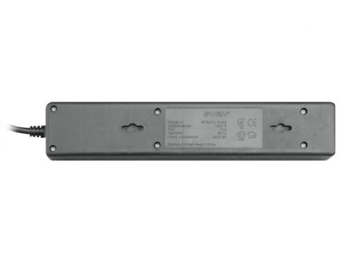 Сетевой фильтр Sven 'Special Base', 5 розеток, 0.5 м, для UPS, черный, вид 2