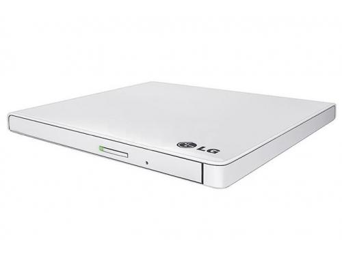 Оптический привод LG GP60NW60 (DVD±RW) USB ultra slim, белый, вид 2