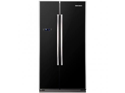 Холодильник Shivaki SBS-550DNFBGI, черный, вид 1