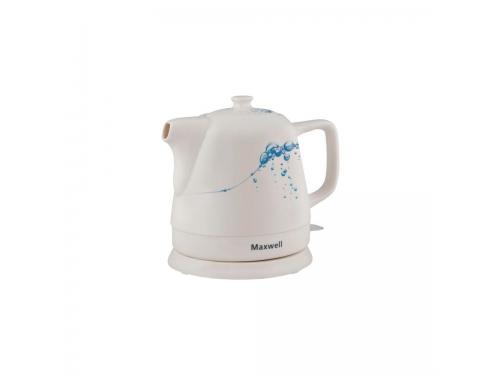 Чайник электрический Maxwell MW-1046 (В), бело-голубой, вид 1