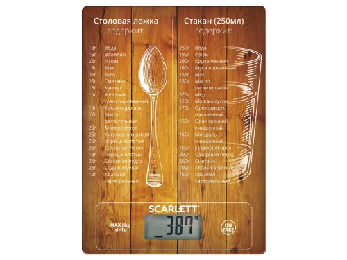 Кухонные весы Scarlett SC-KS57P19 (рисунок), вид 1