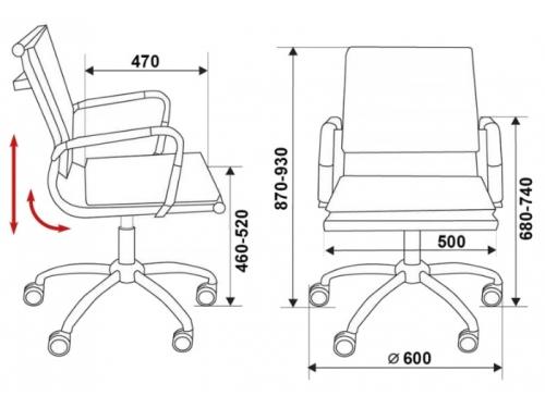 Компьютерное кресло CH-993-Low-V/grey, серый, вид 14