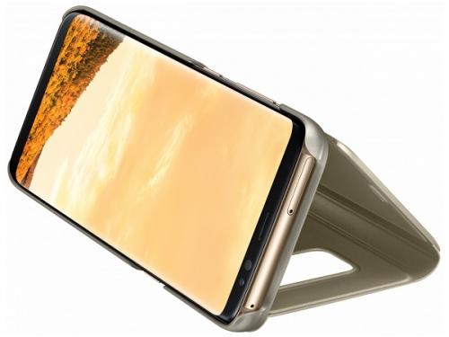 Чехол для смартфона Samsung для Galaxy S8 Clear View Standing Cover (EF-ZG950CFEGRU) золотистый, вид 3