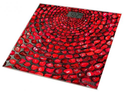 Напольные весы Lumme LU-1329, красный коралл, вид 1