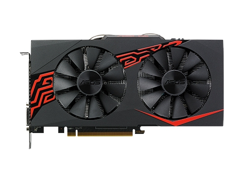 Видеокарта Radeon Asus RX 570 (EX-RX570-O4G), вид 1